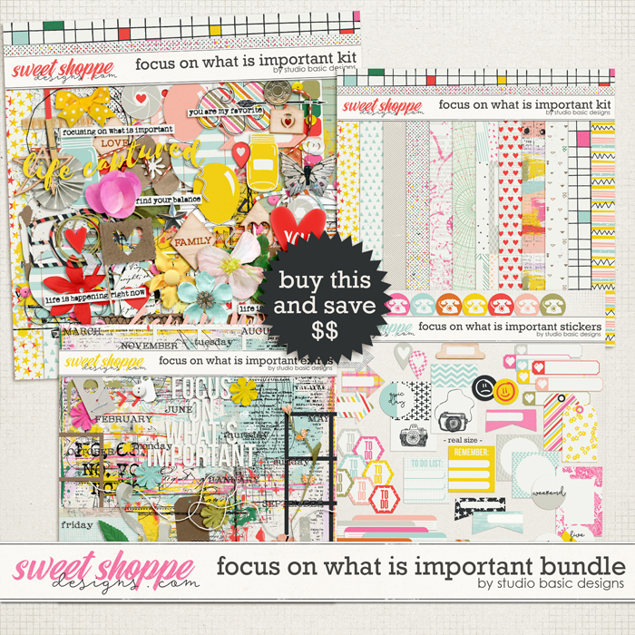 Focus On What's Important Bundle by Studio Basic