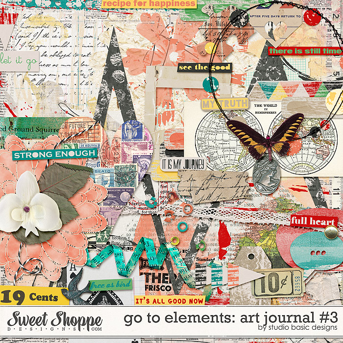 Go To Elements: Art Journal #3 by Studio Basic
