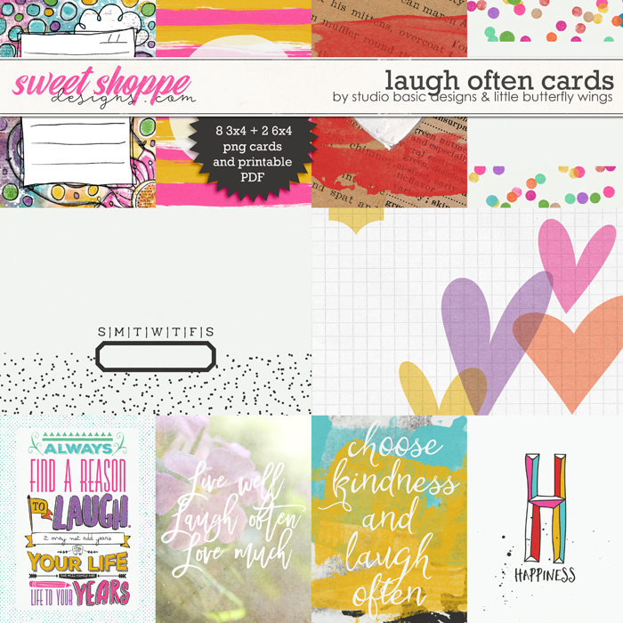 Laugh Often Cards by Studio Basic and Little Butterfly Wings