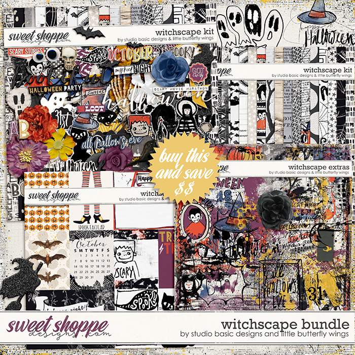 Witchscape Bundle by Studio Basic and Little Butterfly Wings