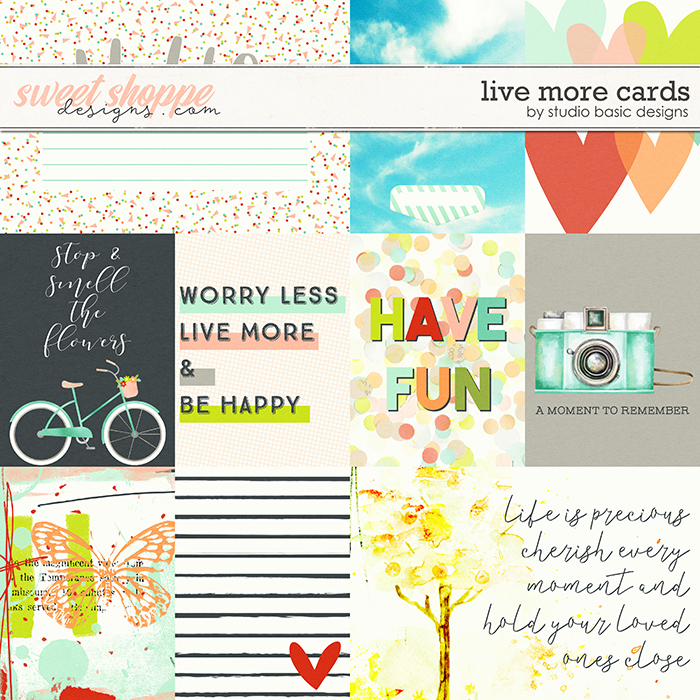 Live More Cards by Studio Basic