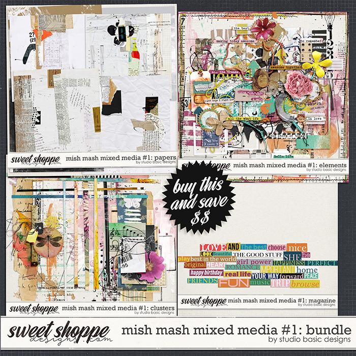 Mish Mash Mixed Media #1 Bundle by Studio Basic