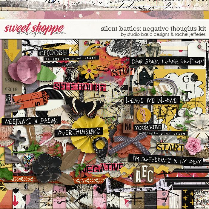 Silent Battles: Negative Thoughts - Kit by Studio Basic Designs & Rachel Jefferies