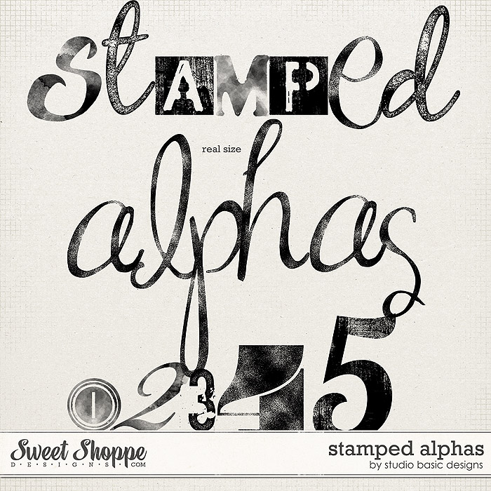 Stamped Alphas by Studio Basic
