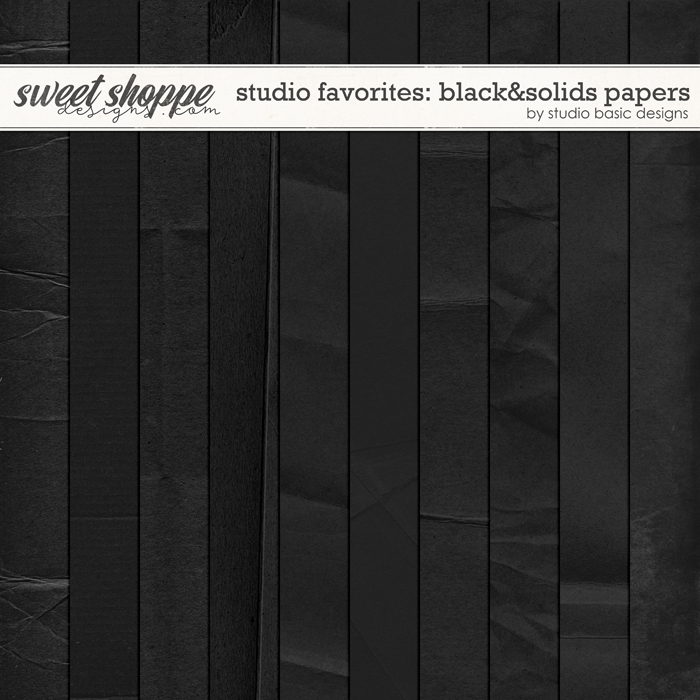 Studio Favorites: Black&Solids Papers by Studio Basic