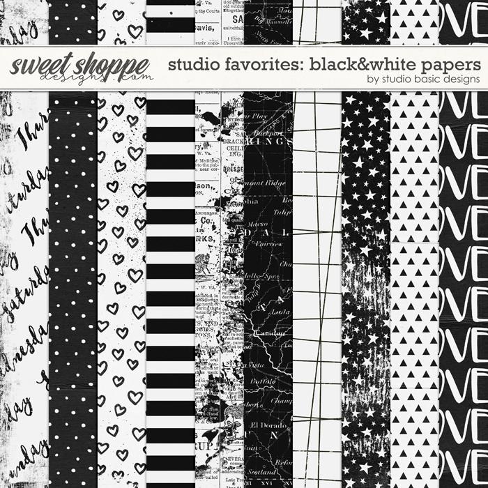 Studio Favorites: Black&White Papers by Studio Basic