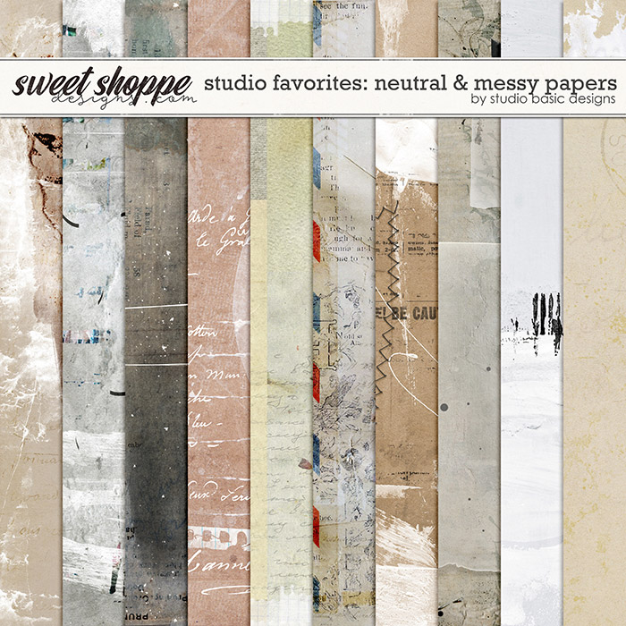 Studio Favorites: Neutral & Messy Papers by Studio Basic