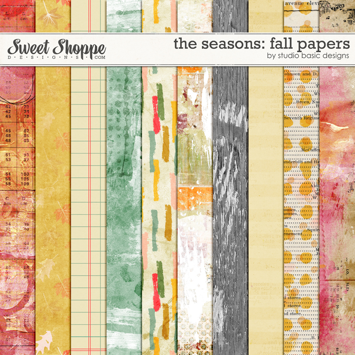 The Seasons: Fall Papers by Studio Basic