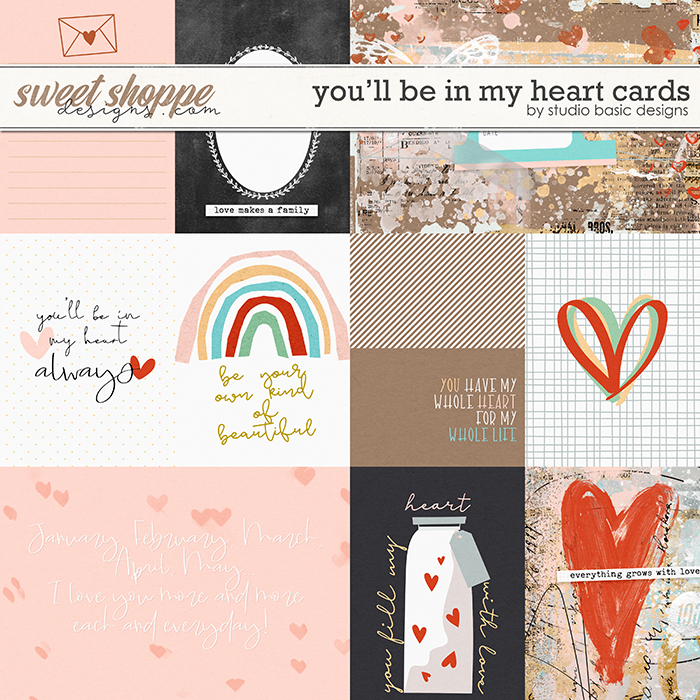 You'll Be In My Heart Cards by Studio Basic