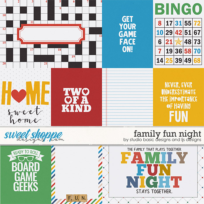 Family Fun Night Cards by LJS Designs and Studio Basic