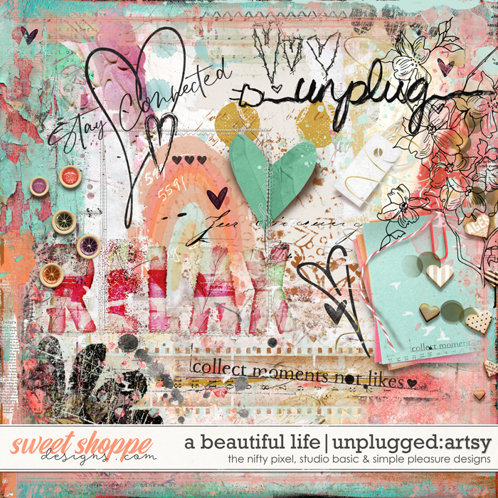 A Beautiful Life: Unplugged Mixed Media by Simple Pleasure Designs & Studio Basic & The Nifty Pixel