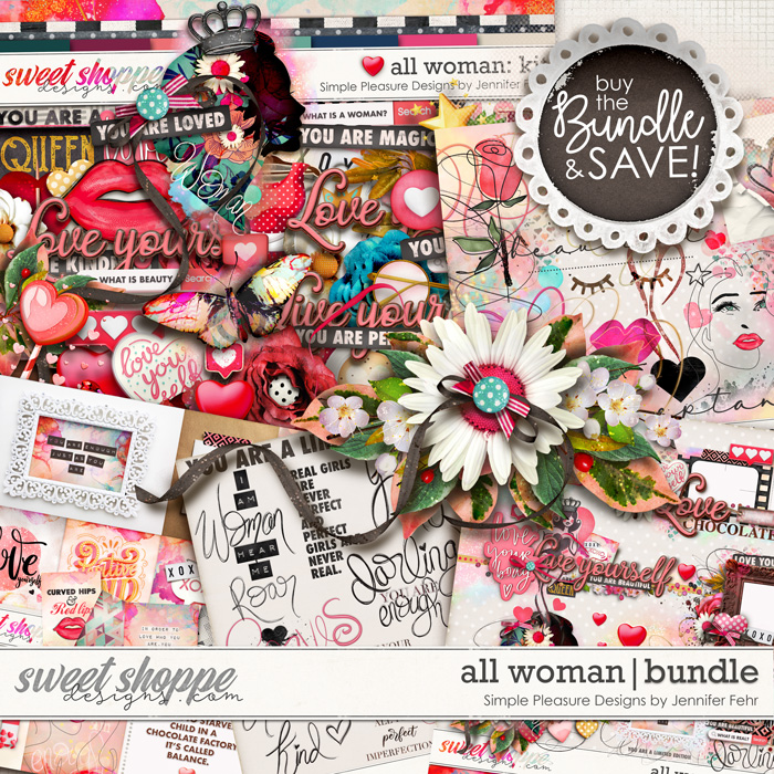 all woman bundle: simple pleasure designs by jennifer fehr