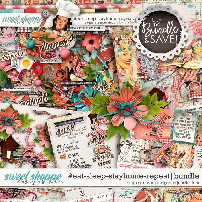 #eat-sleep-stay-home-repeat bundle: simple pleasure designs by jennifer fehr