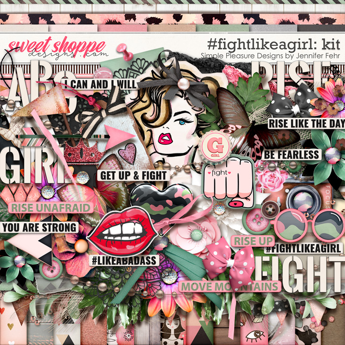 #fightlikeagirl kit: simple pleasure designs by Jennifer Fehr