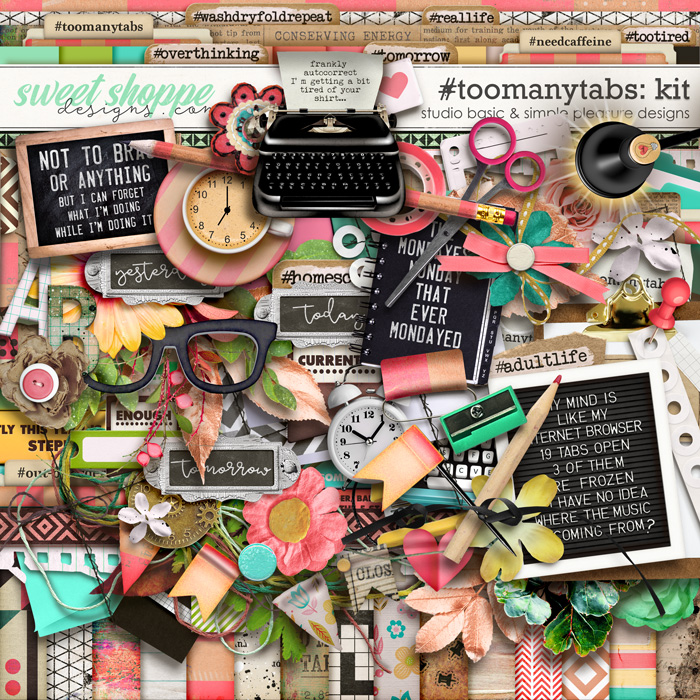 #toomanytabs Kit by Simple Pleasure Designs and Studio Basic