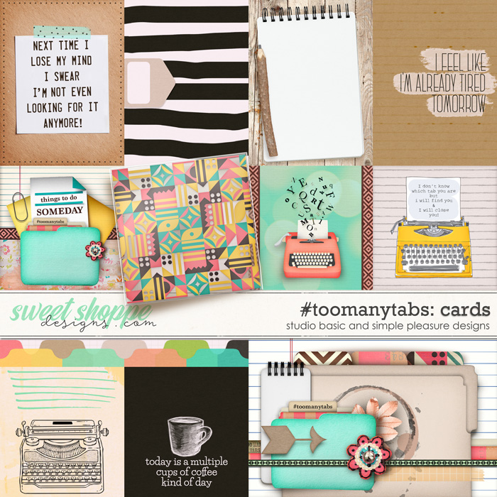 #toomanytabs Cards by Simple Pleasure Designs and Studio Basic