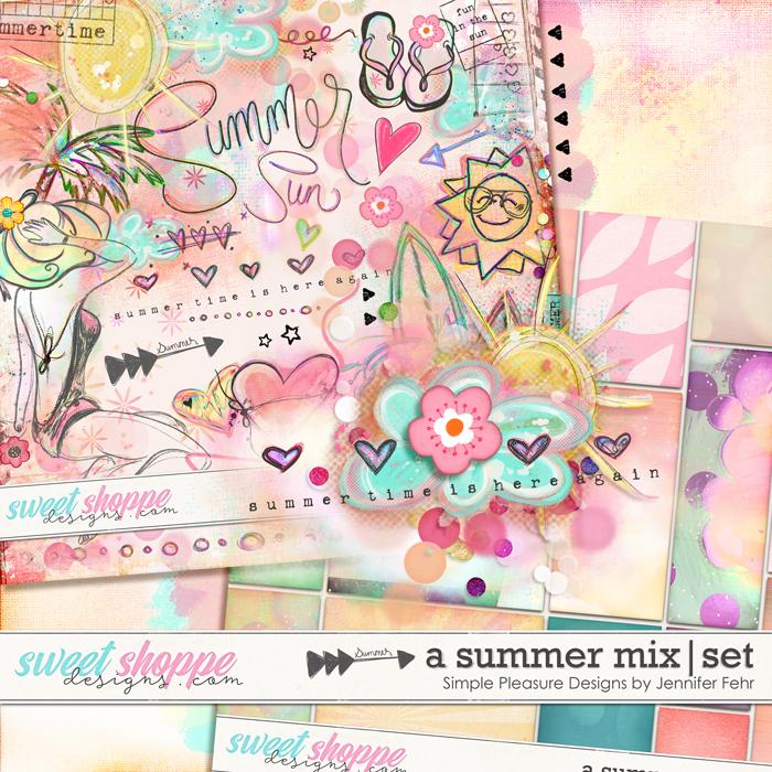 a summer mix artsy set: simple pleasure designs by jennifer fehr