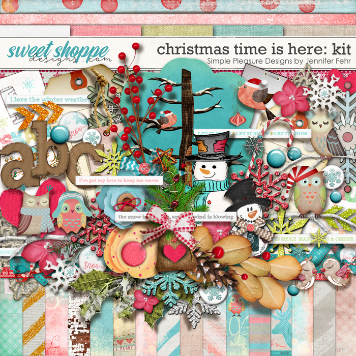 Christmas time is here kit: Simple Pleasure Designs by Jennifer Fehr