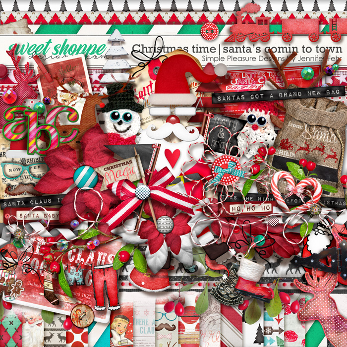 Christmas time | santas comin to town kit: simple pleasure designs by Jennifer Fehr