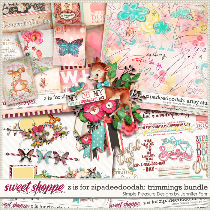 z is for zip-a-dee-doo-dah trimmings bundle: Simple Pleasure Designs by Jennifer Fehr