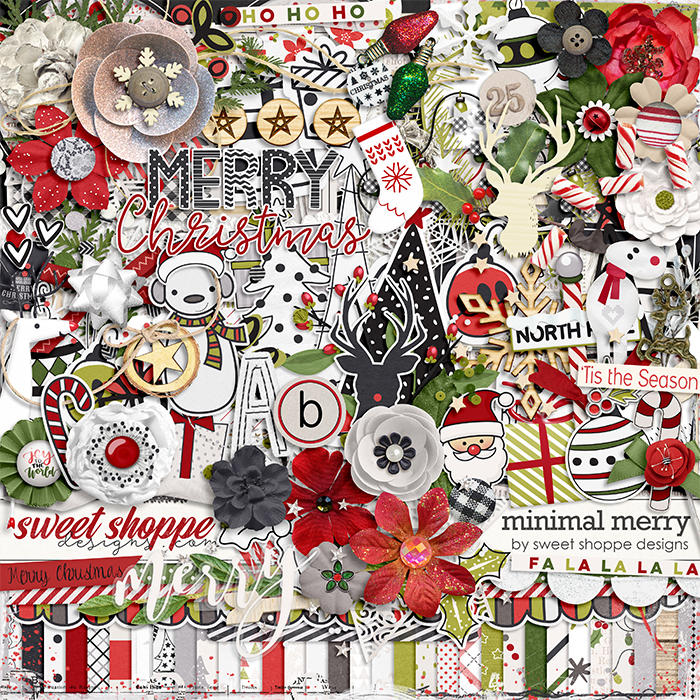 *FREE with your $20 Purchase* Minimal Merry by Sweet Shoppe Designs