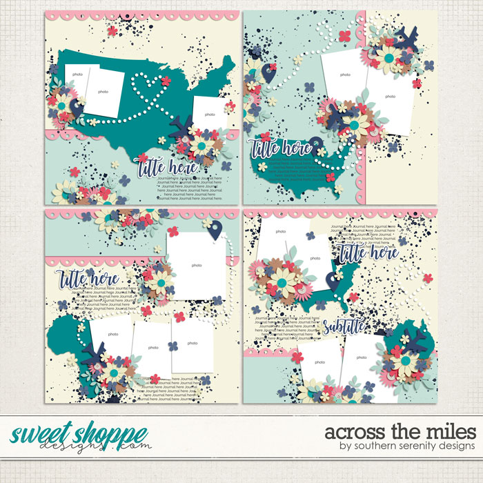 Across the Miles Layered Templates by Southern Serenity Designs