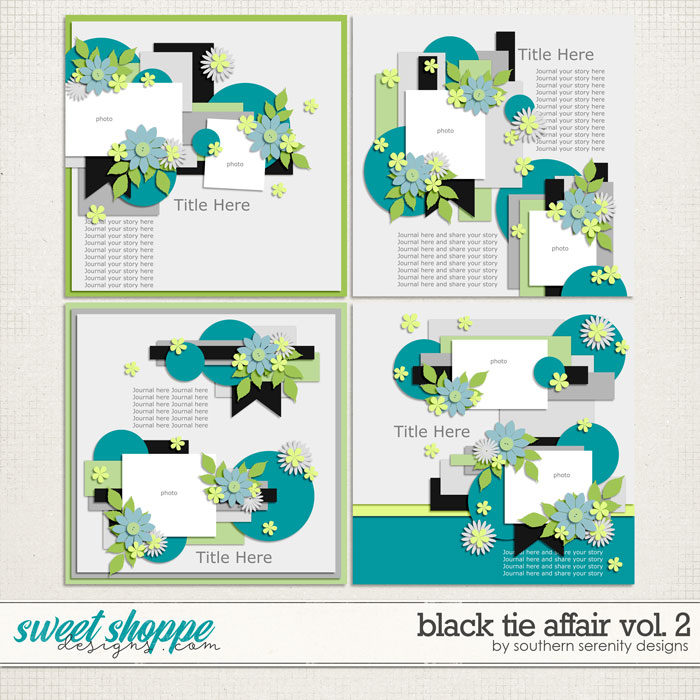 Black Tie Affair Vol 2 Layered Templates by Southern Serenity Designs