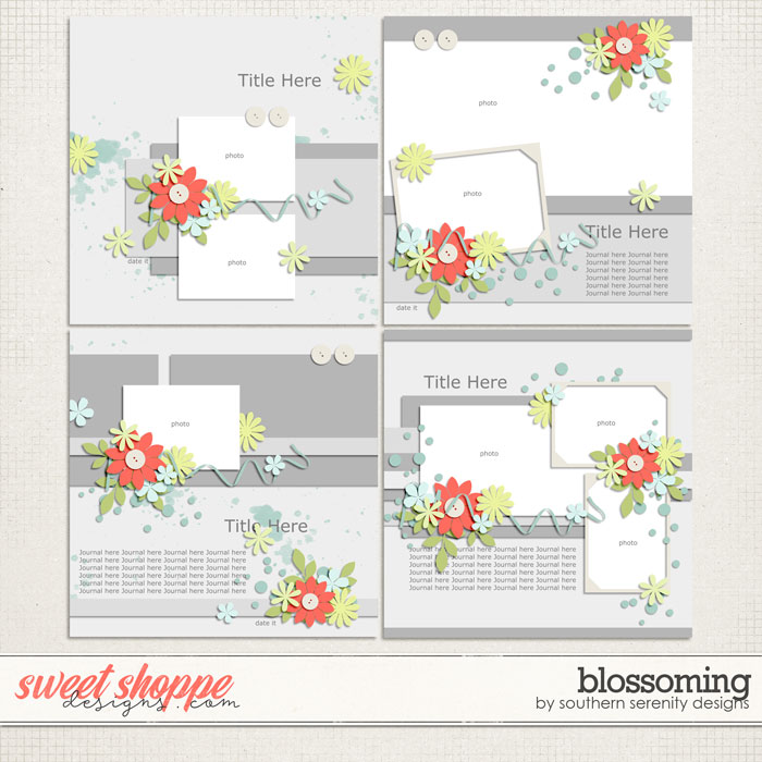 Blossoming Layered Templates by Southern Serenity Designs