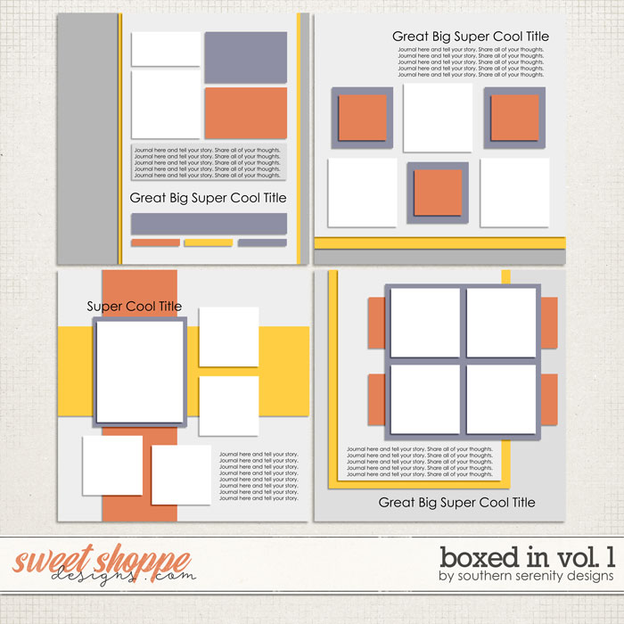 Boxed In Vol. 1 Layered Templates by Southern Serenity Designs