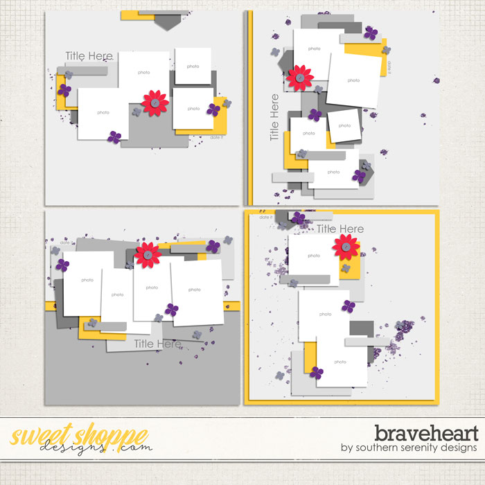 Braveheart Layered Templates by Southern Serenity Designs