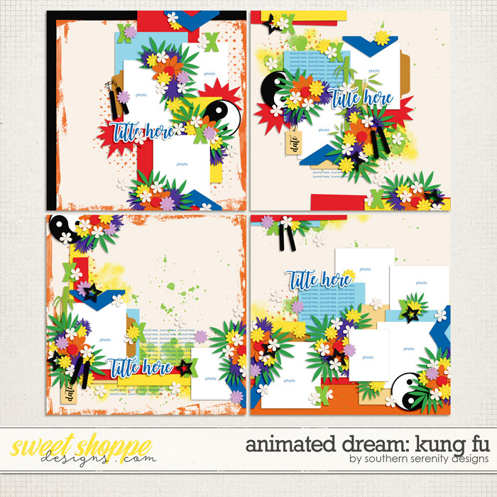 Animated Dream: Kung Fu Layered Templates by Southern Serenity Designs