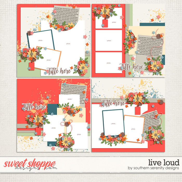 Live Loud Layered Templates by Southern Serenity Designs