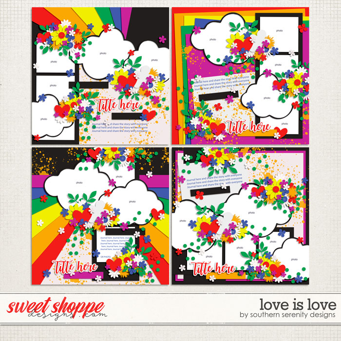 Love Is Love Layered Templates by Southern Serenity Designs