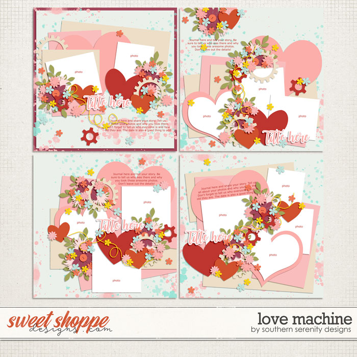Love Machine Layered Templates by Southern Serenity Designs