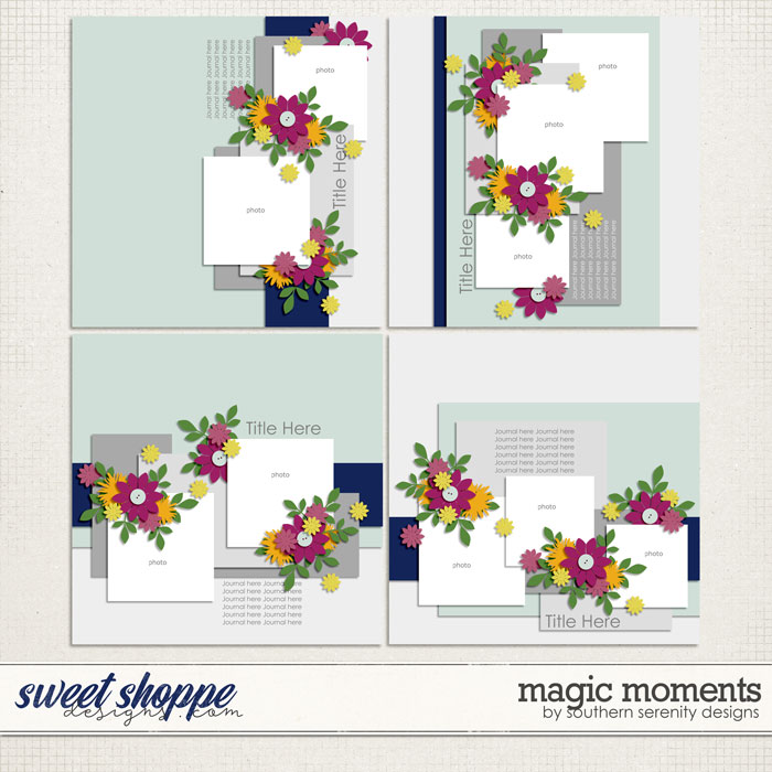 Magic Moments Layered Templates by Southern Serenity Designs