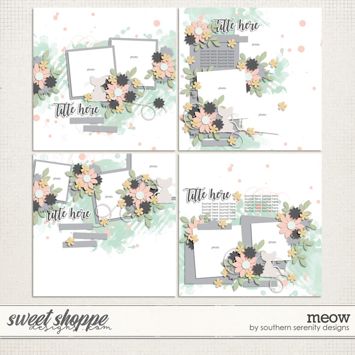 Meow Layered Templates by Southern Serenity Designs