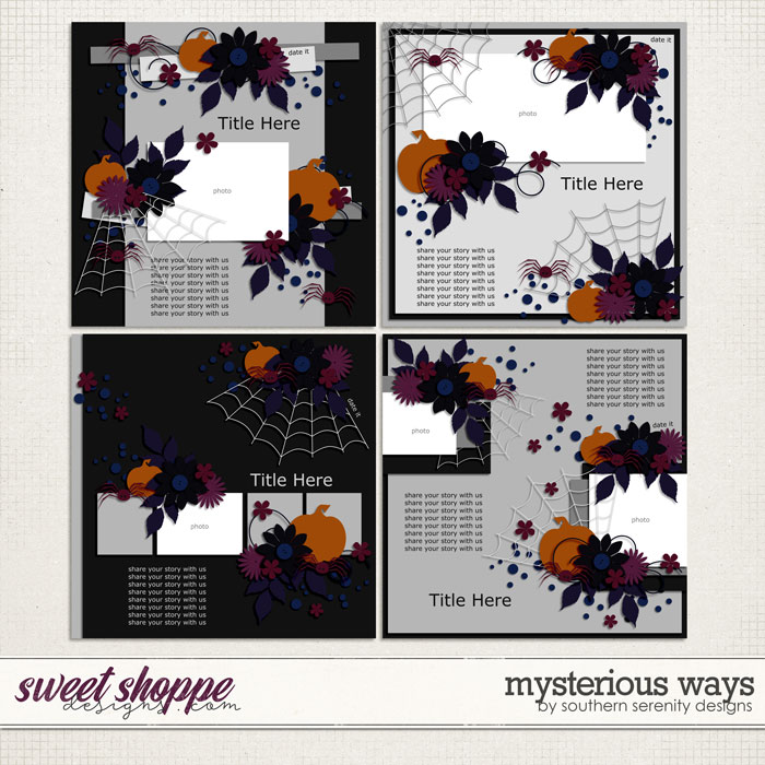 Mysterious Ways Layered Templates by Southern Serenity Designs