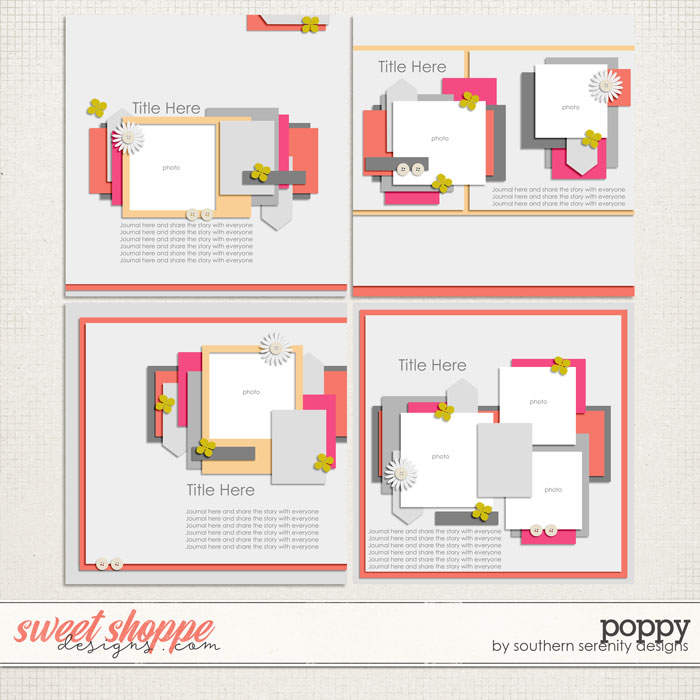 Poppy Layered Templates by Southern Serenity Designs