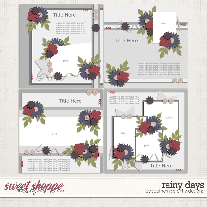 Rainy Days Layered Templates by Southern Serenity Designs