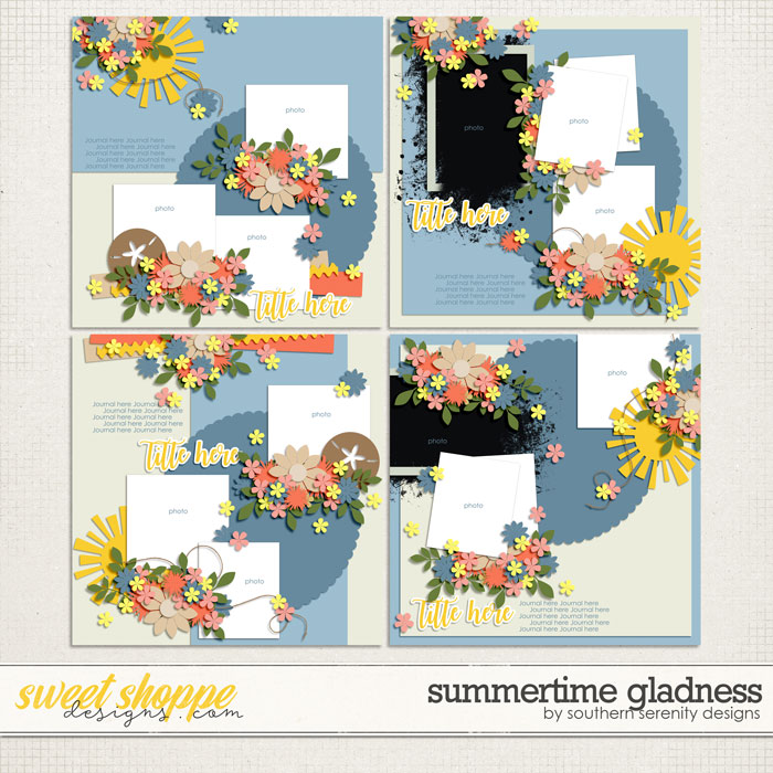 Summertime Gladness Layered Templates by Southern Serenity Designs