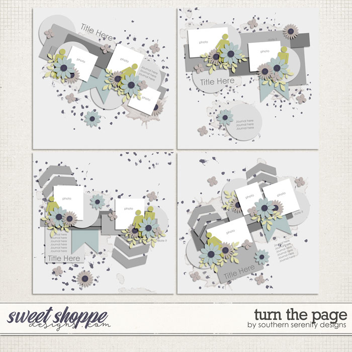 Turn the Page Layered Templates by Southern Serenity Designs