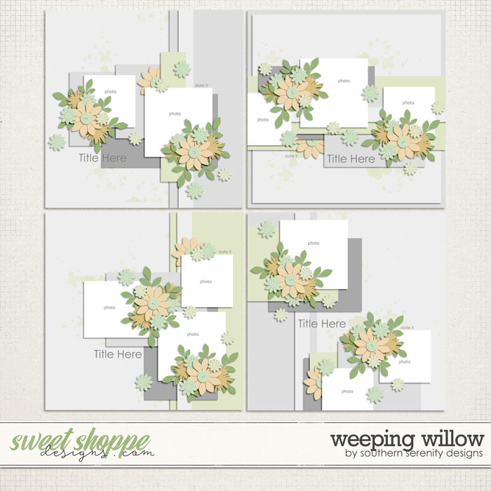 Weeping Willow Layered Templates by Southern Serenity Designs