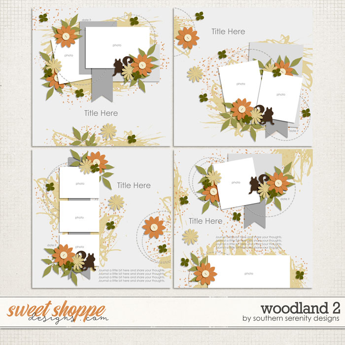 Woodland 2 Layered Templates by Southern Serenity Designs