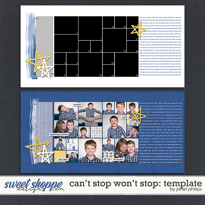 CAN'T STOP WON'T STOP {template} by Janet Phillips