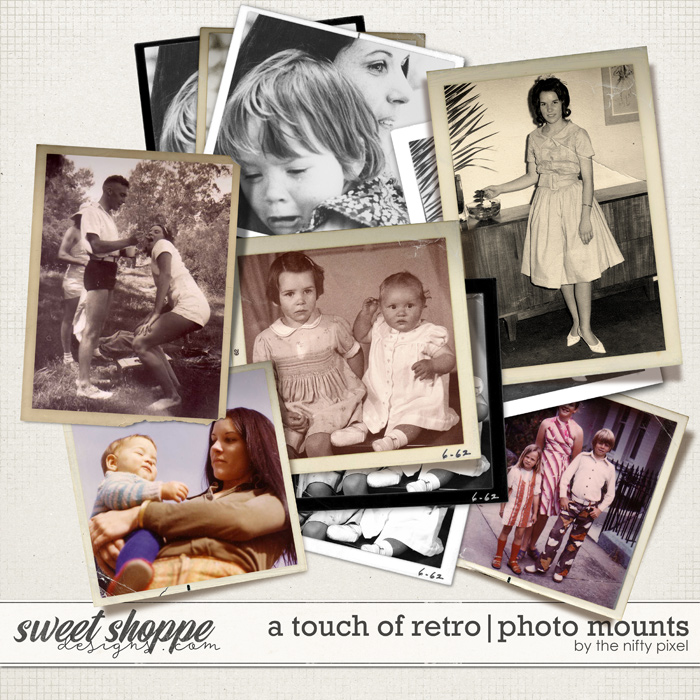 A TOUCH OF RETRO | PHOTO MOUNTS by The Nifty Pixel