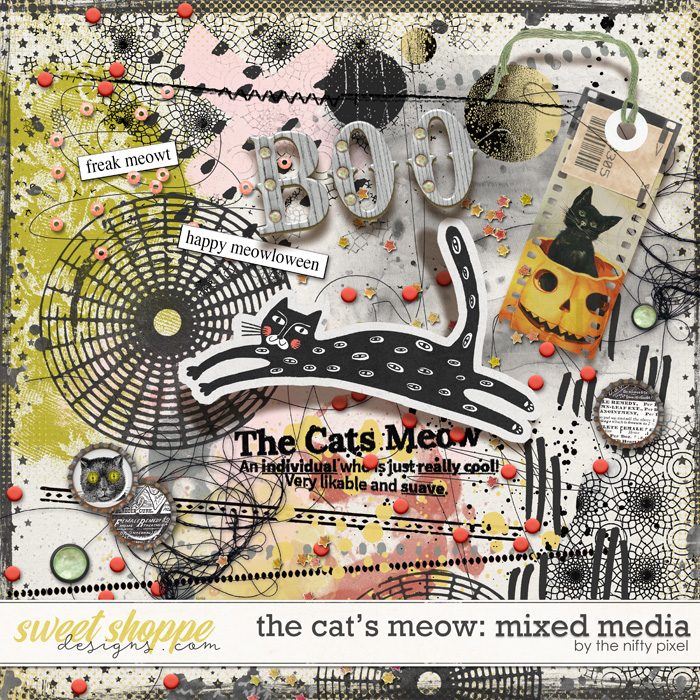 THE CAT'S MEOW | MIXED MEDIA by The Nifty Pixel