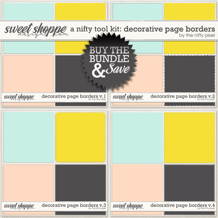 A NIFTY TOOL KIT | DECORATIVE PAGE BORDERS by The Nifty Pixel