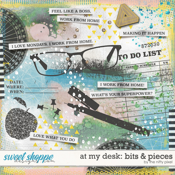 AT MY DESK MIXED MEDIA | by The Nifty Pixel