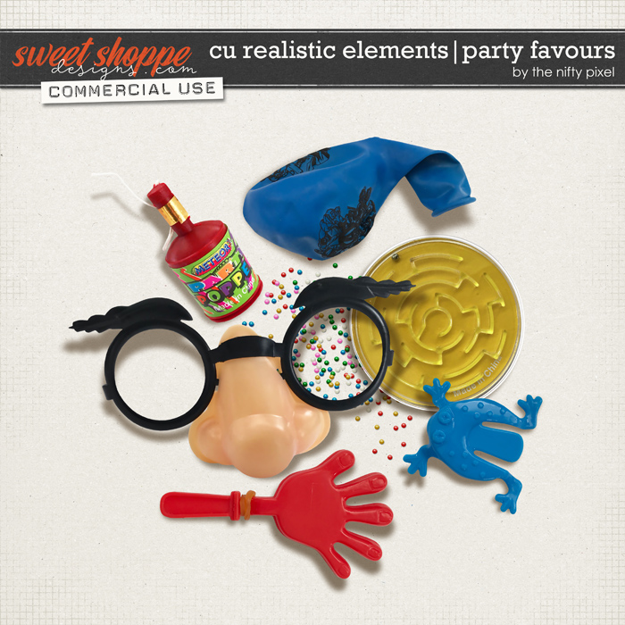 CU REALISTIC ELEMENTS | PARTY FAVOURS by The Nifty Pixel