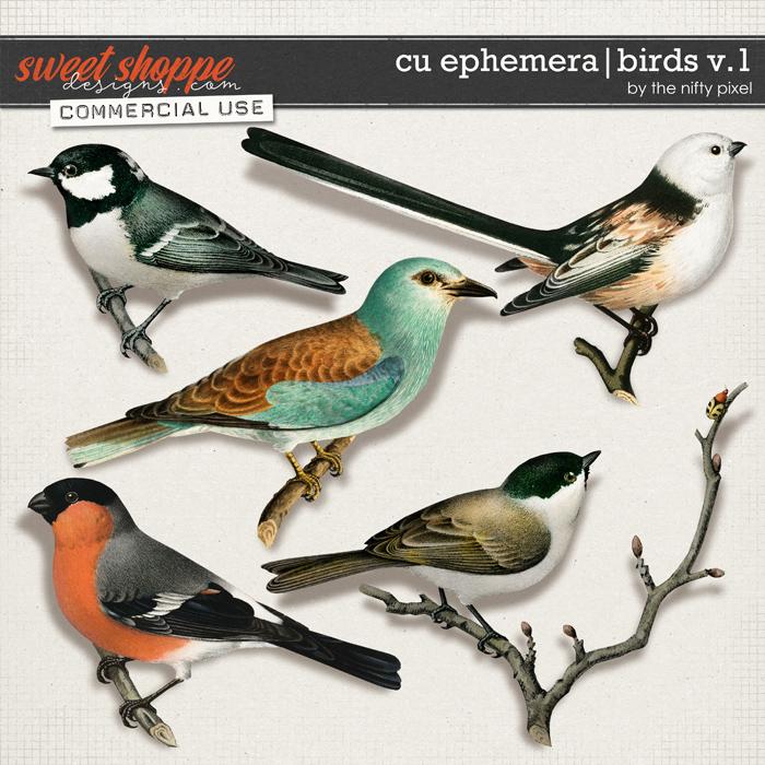 CU EPHEMERA | BIRDS V.1 by The Nifty Pixel